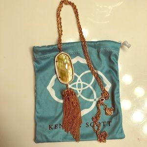 Kendra Scott rose gold rayne necklace!!